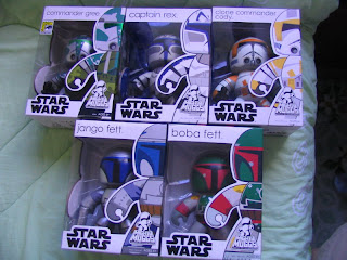 Star Wars Mighty Muggs Jango Boba Fett Clone Troopers Commander Cody Gree Captain Rex