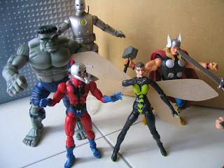 Marvel Legends Avengers Iron Man First Appearance Hulk Grey Antman Wasp Thor Loki