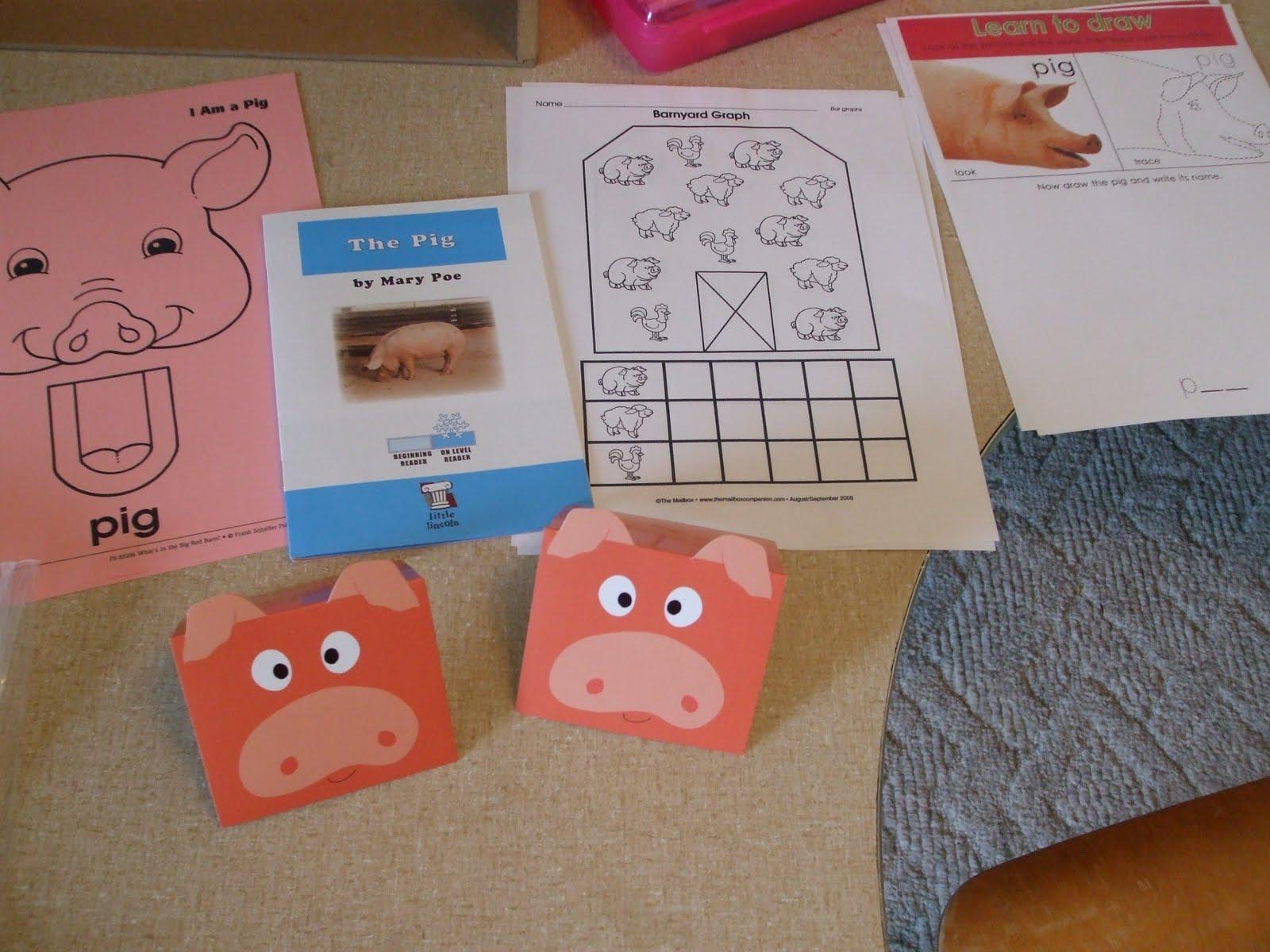 Life S Race With God S Grace Preschool Corner Farm Unit Pig