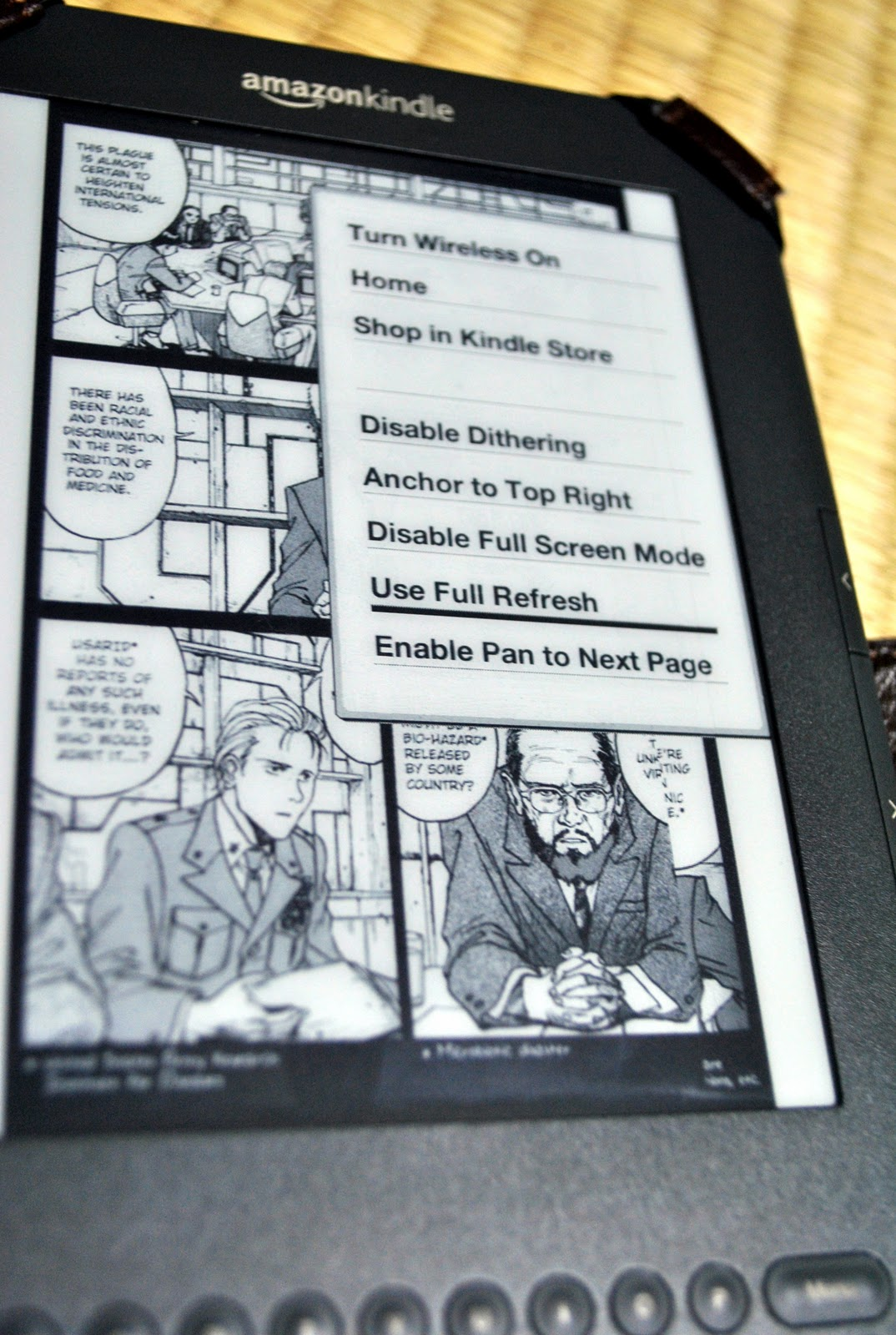 AccessJ: Using an Amazon Kindle 3/4 Part 2: Reading Manga