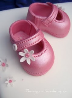 4 Goodness Cake Baby Shoe Template