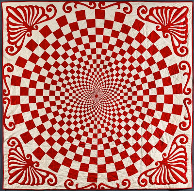 Quilt Inspiration Infinite Variety In Two Colors Red And