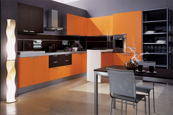 Cabinets for Kitchen Orange Kitchen Cabinets