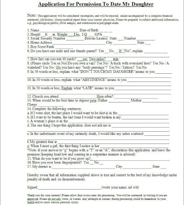 funny application dating my daughter