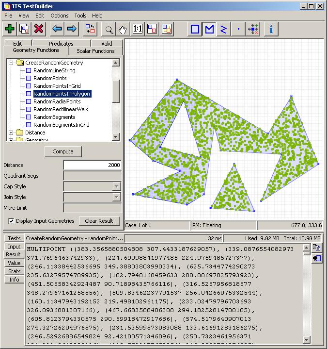 Lin ear th inking: Random Points in Polygon in JTS