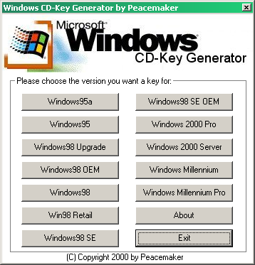 windows 98 product key generator