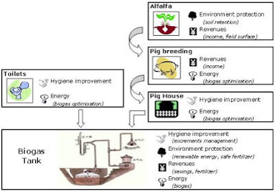diagram of biogas production