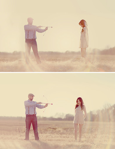 cupid engagement photos