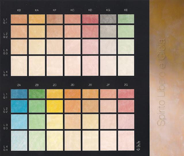 Cartella colori boero per interni - Tabella colori per pareti interne ...