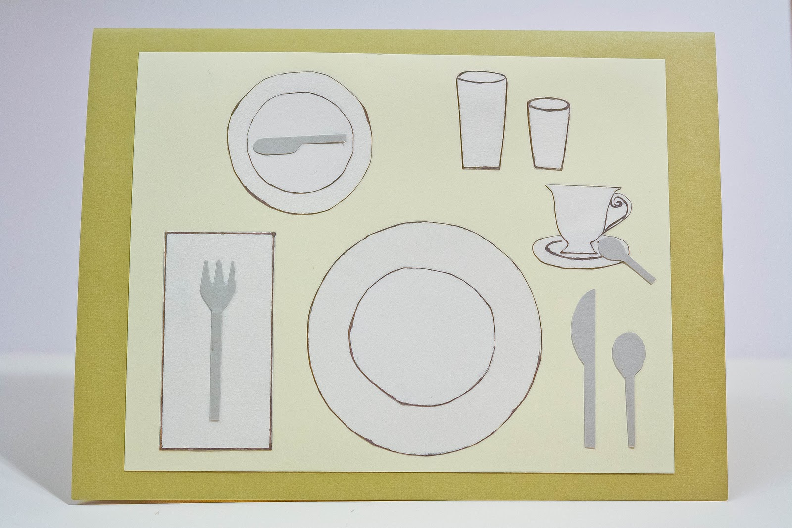 """Proper Table Setting"" Greeting Card 