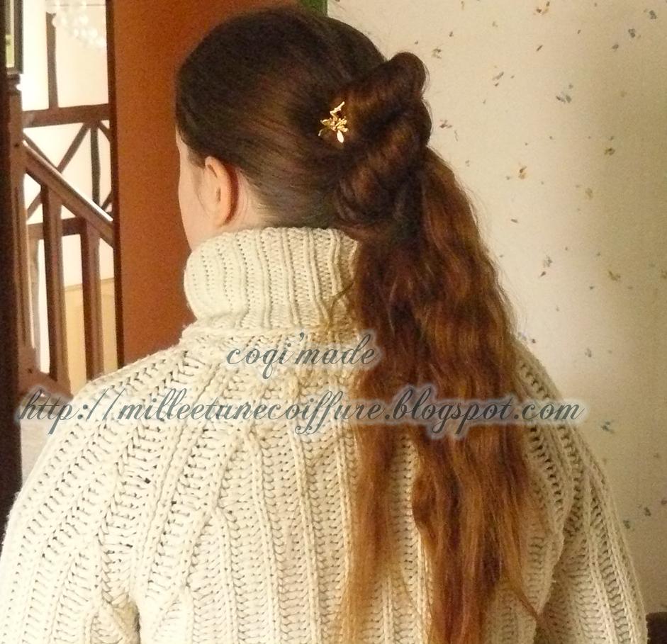 1001 coiffures tutoriel coiffure demi queue en 8 et la queue en 8 compl te sur cheveux longs. Black Bedroom Furniture Sets. Home Design Ideas
