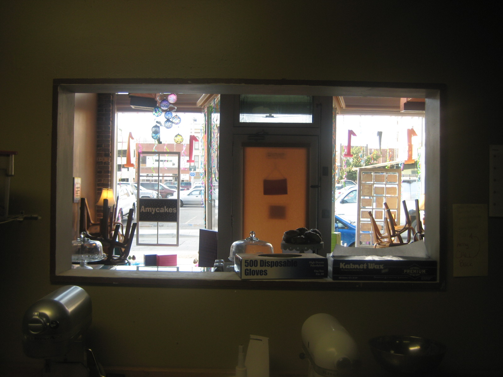 The Time of My Life: Through a downtown bakery window...