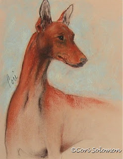 Pharaoh Hound Dog Art King's Treasure by Cori Solomon