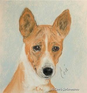 Basenji Dog Art The Mighty Hunter by Cori Solomon