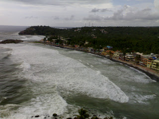 Kovalam Eve's Beach from the top