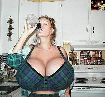 Very Funny Water Joke Boobs Image