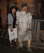 50 POUNDS LIGHTER! ME WITH 'BOYFRIEND' IN AN IRON REFINERY MUSEUM