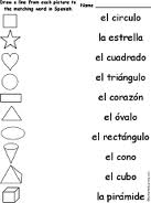 Education World: All about : Beginning Spanish Worksheets