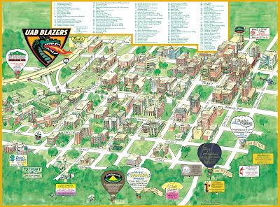 Uab Hospital Map Garrison's Map Revisions: UAB, 2008 Uab Hospital Map