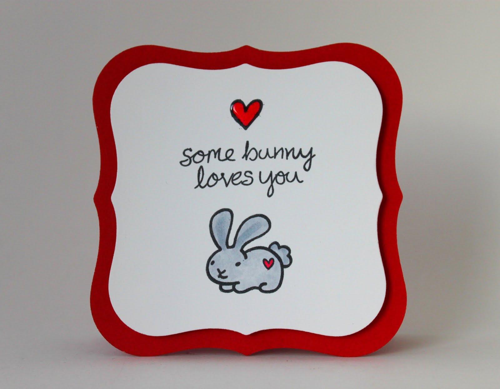 winter wonderland some bunny loves you card. Black Bedroom Furniture Sets. Home Design Ideas