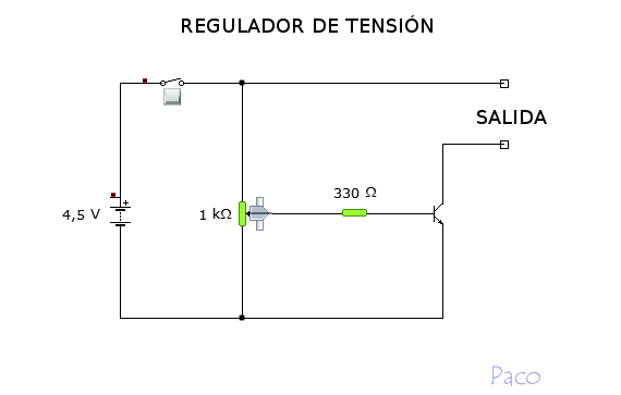 Circuito Regulador De Voltaje : Proyectos de tecnologÍa regulador tensiÓn
