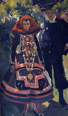 Pareja de novios, Joaquín Sorolla Bastida, Joaquín Sorolla y Bastida, Retratos de Joaquín Sorolla, Joaquín Sorolla, Pintor español, Retratista español, Pintores Valencianos