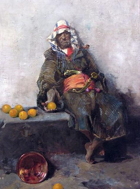 Moro con naranjas, Joaquín Sorolla Bastida, Retratos de Joaquín Sorolla, Joaquín Sorolla y Bastida, Joaquín Sorolla, Pintor español, Retratista español, Pintores Valencianos