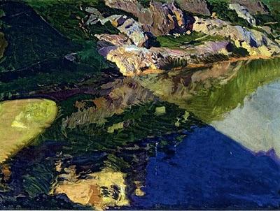 Sombra del puente de la Alcantara (Toledo), Joaquín Sorolla y  Bastida, Joaquín Sorolla, Paisajes de Joaquín Sorolla, Impresionismo Valenciano, Joaquín Sorolla Bastida