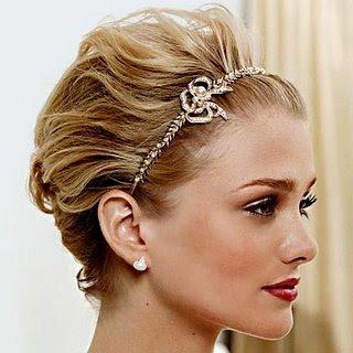 penteado curto para noiva