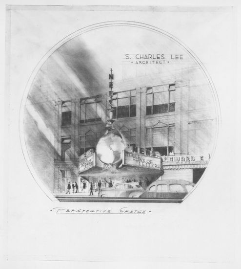 Oakland Newsreel theater drawing