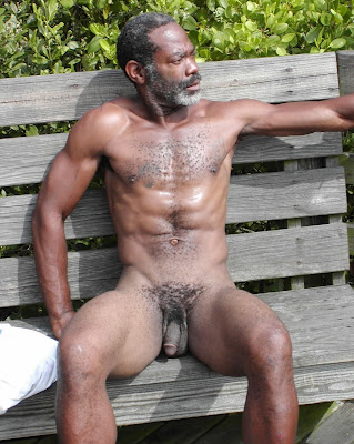 Old black nude men