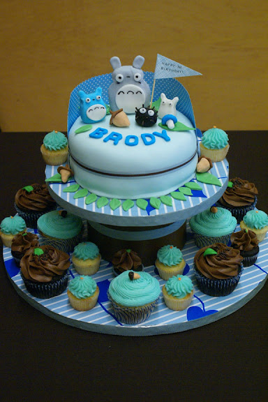 Totoro Birthday Cake And Totoro Party For Brody Coco