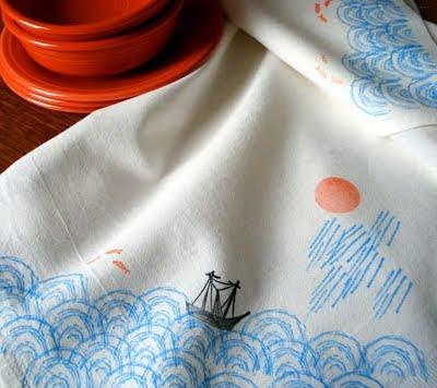 print on fabric towels
