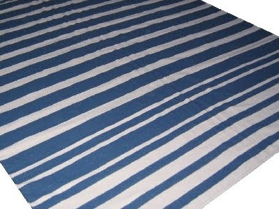blue and white stripe rug | Roselawnlutheran
