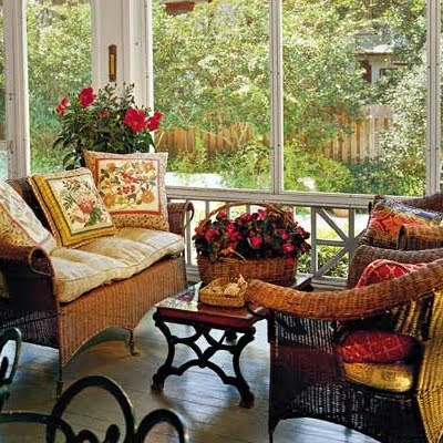 The Glass Display Coffee Table On This Sun Porch Is Equally Brilliant.