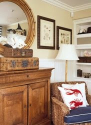 Nautical decor ideas with color red