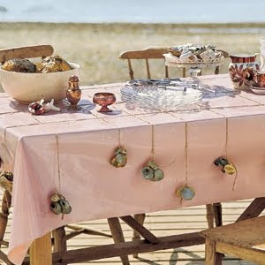 sea shell tablecloth weights