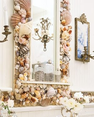 seashell art mirror