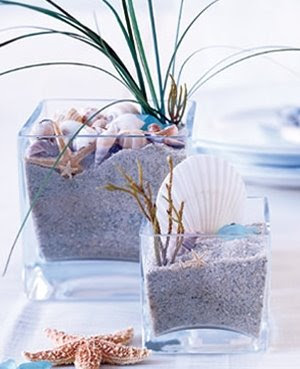 beachy table centerpiece