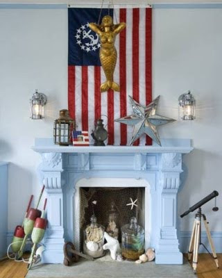 Coastal Theme Fireplace