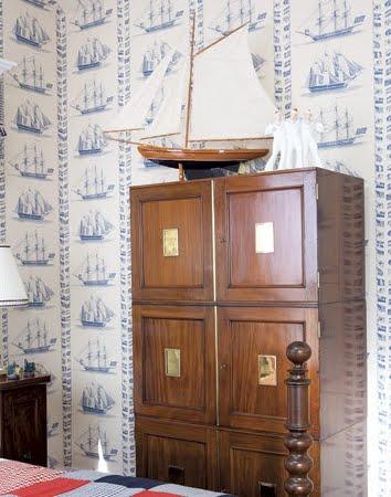 nautical wallpaper decor idea