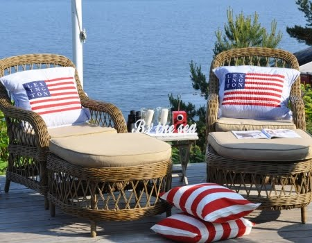 American flag outdoor decor