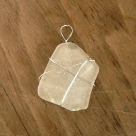 how to make sea glass pendant