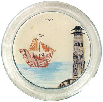 nautical glass coasters