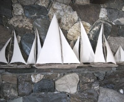driftwood boats for mantel decor