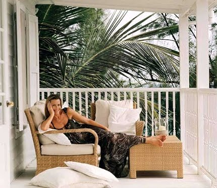 India Hicks in her home on the Bahamas