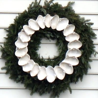 quahog shell wreath