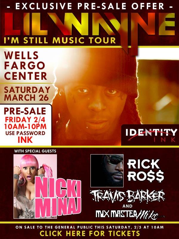 identity ink: ON SALE NOW Im Still Music Tour LiL Wayne