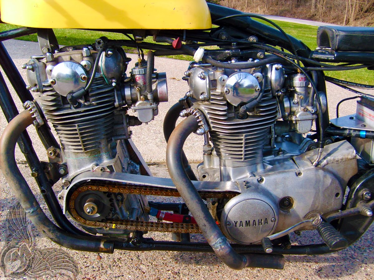 xs650 double motor drag bike - bikerMetric