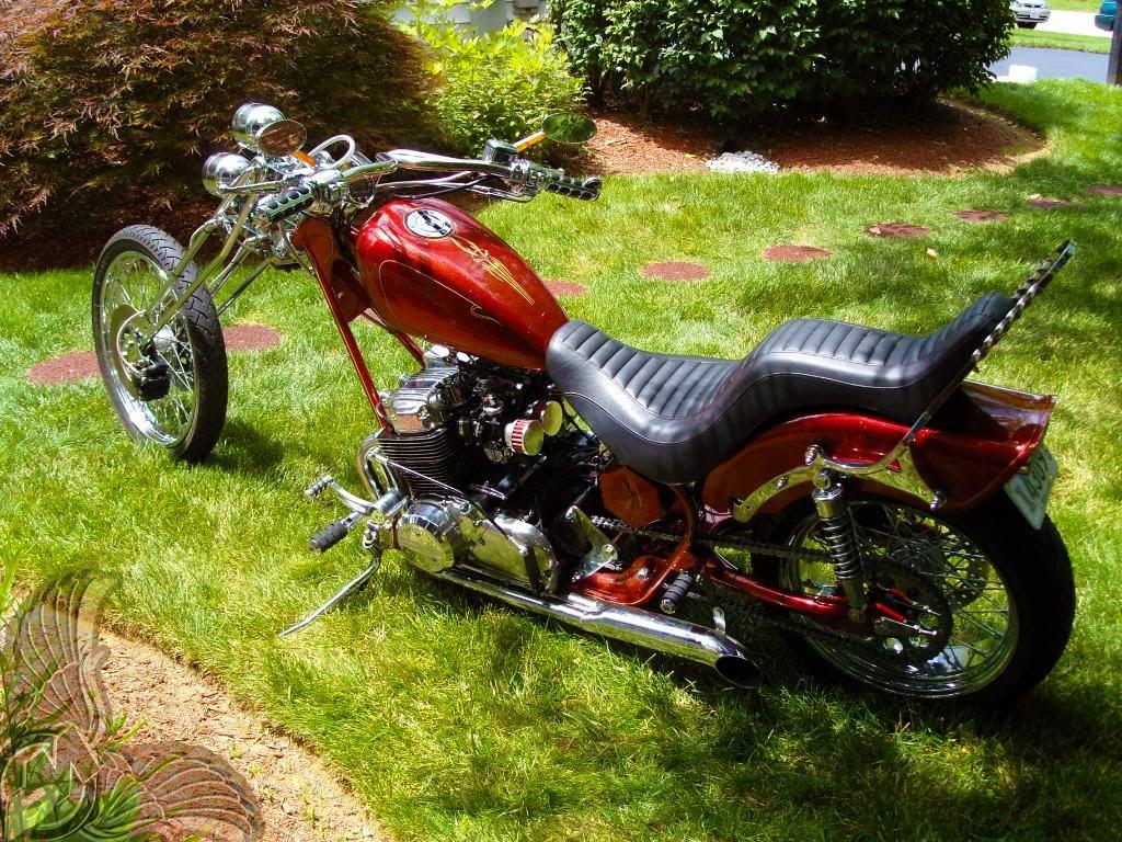 radical old school cb750 chopper bikermetric